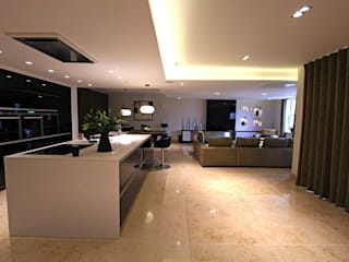 Contemporary New Build, Glossop Asco Lights Limited Modern kitchen