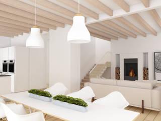 Progetto di Interior Design di una casa a Conegliano: Soggiorno in stile  di Dettaglidinterni Architettura, Interior Design e Home Staging