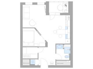 Однокомнатная квартира для молодого человека от PROROOMS Минимализм