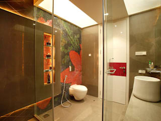 Mr Anil nahata's bungalow Modern bathroom by Innerspace Modern