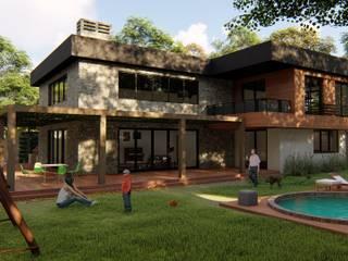 Kesit Mimarlık – Hüseyin Yalçın Villa: modern tarz , Modern