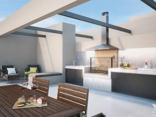 Las Acacias by Xline 3D Moderner Balkon, Veranda & Terrasse von Xline 3D Digital Interactive Architecture Modern