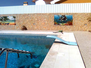 ทะเลเมดิเตอร์เรเนียน  โดย Gestos Nativos - azulejos, เมดิเตอร์เรเนียน