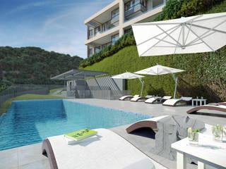 Depthouse Los Trapenses – Castro & Tagle Inmobiliaria Piscinas de estilo moderno de Xline chile Moderno