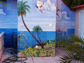 สวน โดย Gestos Nativos - azulejos, ชนบทฝรั่ง