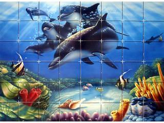 ทันสมัย  โดย Gestos Nativos - azulejos, โมเดิร์น