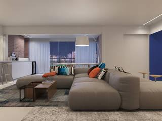 Sala integrada: Salas de estar  por Duplex212 - Arquitetura e Interiores