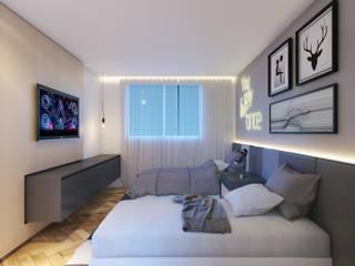 Quanto de Hóspedes: Quartos  por Duplex212 - Arquitetura e Interiores