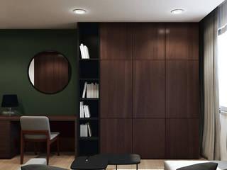 Salon w kawalerce: styl , w kategorii Salon zaprojektowany przez MACZ Architektura - Architekt wnętrz Kraków