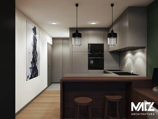 Widok na kuchnię: styl , w kategorii Kuchnia zaprojektowany przez MACZ Architektura - Architekt wnętrz Kraków
