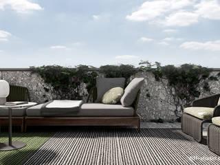 Balcones y terrazas de estilo minimalista de Diff.Studio Minimalista