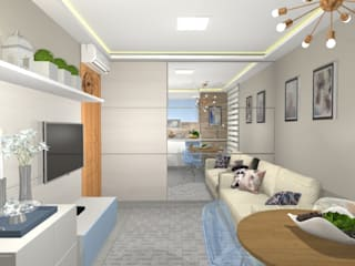Moderne Wohnzimmer von Arquiteta Elaine Silva Modern
