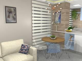 Sala de Jantar Compacta: Salas de jantar  por Arquiteta Elaine Silva
