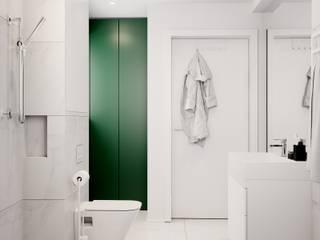 Pomysłowe wnętrze szeregówki: styl , w kategorii  zaprojektowany przez NUKO STUDIO
