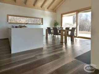 Old Noghera Bark wood floor Comedores de estilo rural de Cadorin Group Srl - Top Quality Wood Flooring Rural