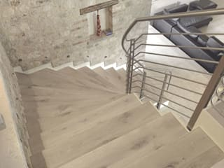 Bleached Quercus wood floor de Cadorin Group Srl - Top Quality Wood Flooring Moderno