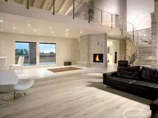 Bleached Quercus wood floor Salas de estilo moderno de Cadorin Group Srl - Top Quality Wood Flooring Moderno