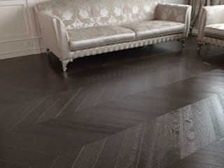 Wenge tone Wood floor - Oak Chevron 45 pattern de Cadorin Group Srl - Top Quality Wood Flooring Clásico