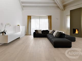 Rock Oak wood floor Livings modernos: Ideas, imágenes y decoración de Cadorin Group Srl - Top Quality Wood Flooring Moderno