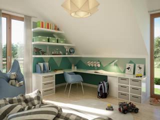 Habitaciones juveniles de estilo  por Living Fertighaus GmbH