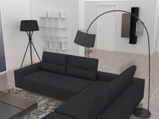 Projecto Sala de Estar : Salas de estar  por AnaPacheco - BoConcept Interior Designer,Minimalista