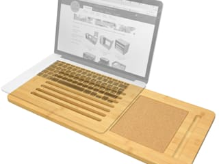 Laptop Tray with Cork Pad: modern  by Finoak LTD, Modern