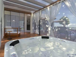 Área de lazer residência A.L. por Daniela Ponsoni Arquitetura Moderno