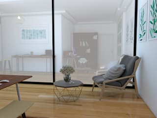 Transformação de Habitação encantadora, com reorganização de espaços, acabamentos e espaço exterior por AJA - Reabilitação - Remodelação - Construção Moderno