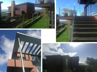 Transformação de Habitação encantadora, com reorganização de espaços, acabamentos e espaço exterior :   por AJA - Reabilitação - Remodelação - Construção