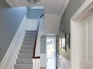 East Dulwich Family Home Modern corridor, hallway & stairs by Imperfect Interiors Modern