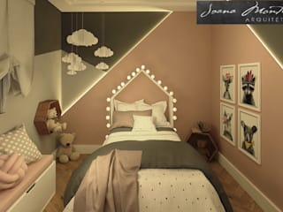 Girls Bedroom by Arquiteta Joana Monteiro, Scandinavian