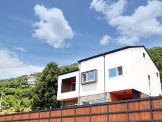 디엘건축 통영 미수동 크리에이트 모델 완공: (주)디엘건축의  목조 주택,컨트리