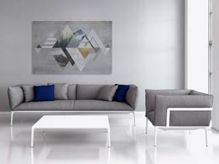 Spokój gór - nowoczesny obraz na płótnie: styl , w kategorii  zaprojektowany przez VAKU-DSGN