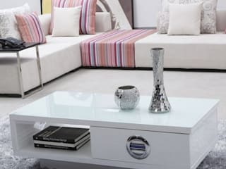 Mẫu bàn trà sofa phòng khách đẹp hiện đại: Châu Á  by Thương hiệu Nội Thất Hoàn Mỹ, Châu Á