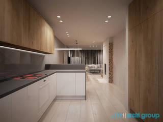 Projekt wnętrz domu jednorodzinnego: styl , w kategorii Kuchnia na wymiar zaprojektowany przez Archi group Adam Kuropatwa