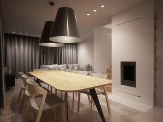 Projekt wnętrz domu jednorodzinnego: styl , w kategorii Jadalnia zaprojektowany przez Archi group Adam Kuropatwa