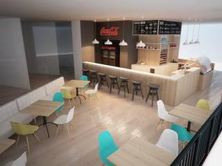 Projekt bistro KURA DOMOWA : styl , w kategorii Gastronomia zaprojektowany przez Archi group Adam Kuropatwa
