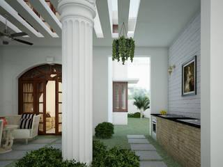 Pasillos, vestíbulos y escaleras modernos de Monnaie Interiors Pvt Ltd Moderno