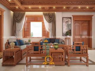 Nội thất Long Thành Salas de estilo asiático