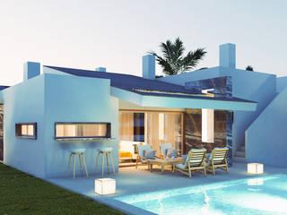 Render de chalet. Estilo Mediterráneo. angelgalera. Arquitectura y render Casas de estilo mediterráneo