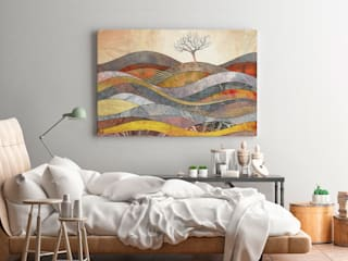 Wzgórze cudów - nowoczesny obraz na płótnie: styl , w kategorii  zaprojektowany przez VAKU-DSGN