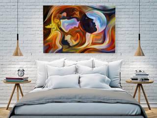 Głos serca, głos rozsądku - nowoczesny obraz na płótnie: styl , w kategorii  zaprojektowany przez VAKU-DSGN
