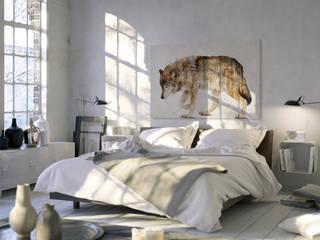 Wataha leśnych szumów - nowoczesny obraz na płótnie: styl , w kategorii  zaprojektowany przez VAKU-DSGN