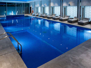 Award Winning Pool and Spa at InterContinental London - The 02 London Swimming Pool Company Hotels Concrete Beige