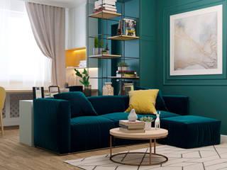 Квартира по ул. Микояна: Гостиная в . Автор – Design Service, Классический