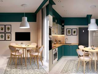 Квартира по ул. Микояна: Столовые комнаты в . Автор – Design Service, Классический