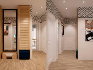 Квартира по ул. Микояна Коридор, прихожая и лестница в классическом стиле от Design Service Классический
