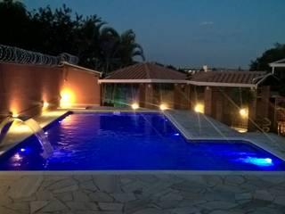Vila Nova Piscinas 庭院泳池 水泥 Blue