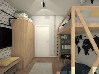 POKÓJ DLA CHŁOPCA 2: styl , w kategorii Pokój dla chłopca zaprojektowany przez AP interiors,