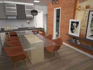 Modern dining room by VIVRE | Arquitetura em São José do Rio Preto - SP Modern